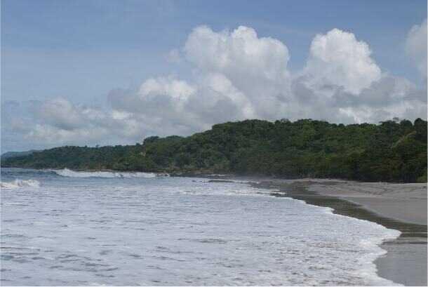 Montezuma Beach Costa Rica has a beautiful coastline