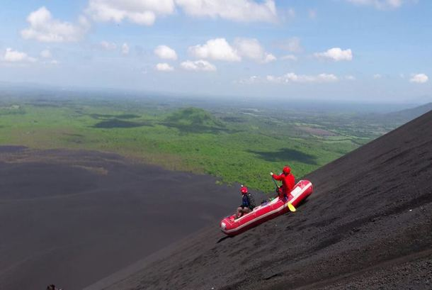 Desafio does first descent Volcano Rafting in Nicaragua.