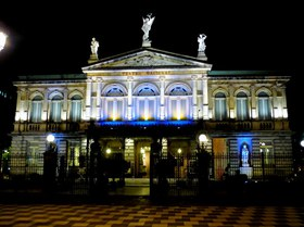 The National Theater is a must see in San Jose Costa Rica.