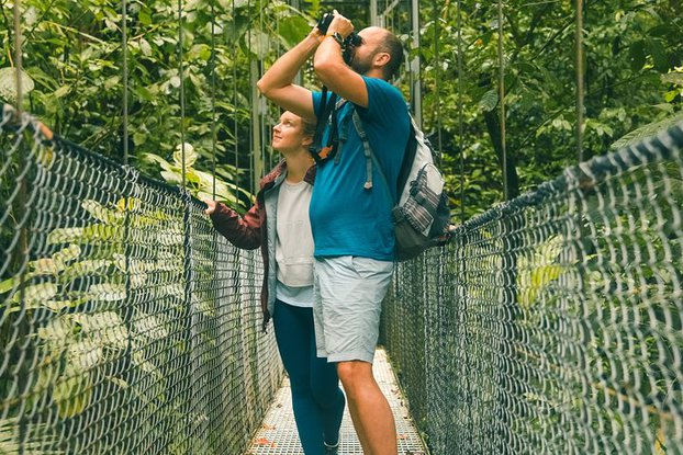 Be SAFE and have serious FUN on our Arenal Hanging Bridges tour in La Fortuna, Costa Rica.