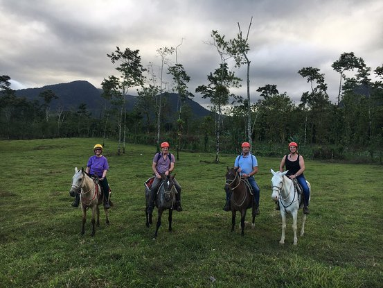 Take a nice horseback ride along the base of the Arenal Volcano