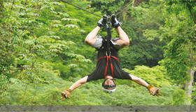 Adventures in Wellness Ziplining.