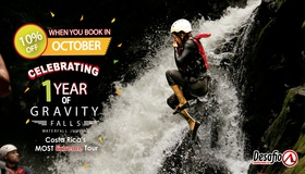 Costa Rica EXTREME tour Gravity Falls Waterfall Jumping with Desafio: one year celebration