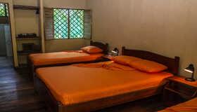 A single room at Laguna Lodge, an eco-tourist hotel on the Caribbean coast of Costa Rica