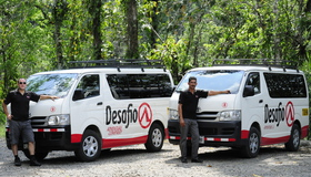 Private transfer Costa Rica with Desafio: safe, reliable, bilingual, free WiFi