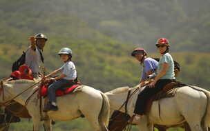 Borinquen Guanacaste Combo Costa Rica trail ride to waterfall