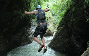 Costa Rica EXTREME tour Gravity Falls Waterfall Jumping with Desafio