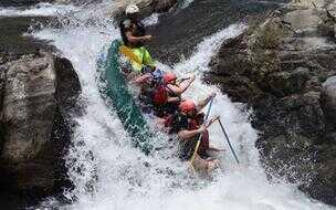 Raft on the Tenorio River