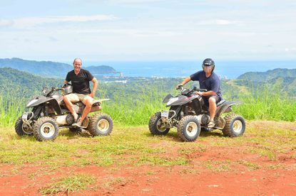 The best ATV riding at the beach at Jaco.
