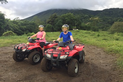 Great fun ATV Arenal tour with views of the Arenal Volcano.