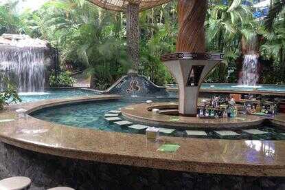 Great swim up bars at Baldi Hot Springs Arenal Volcano.