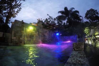 Beautiful Arenal hot springs at Paradise La Fortuna