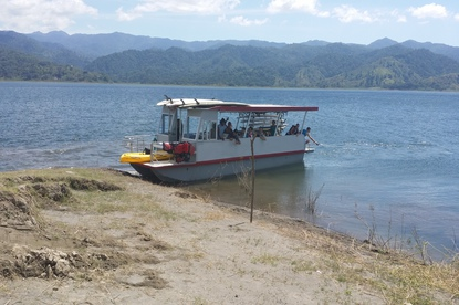 Fun and scenic boat tour transfer from Arenal to Monteverde with Desafio.