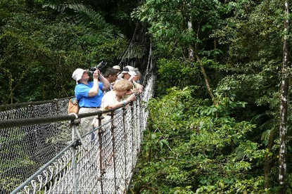 Combo tour hanging bridges tour and Los Lagos Resort hot springs with lunch or dinner Arenal Volcano Costa Rica