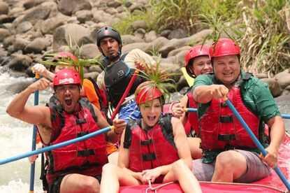 So much fun rafting in Costa Rica with Desafio on Sarapiqui River.