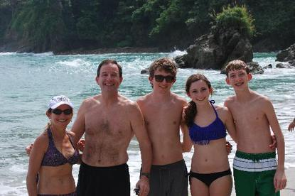 Family fun at the beach with Desafio in Costa Rica.