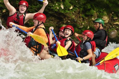 The best rafting in Costa Rica on the Sarapiqui River near Arenal Volcano.