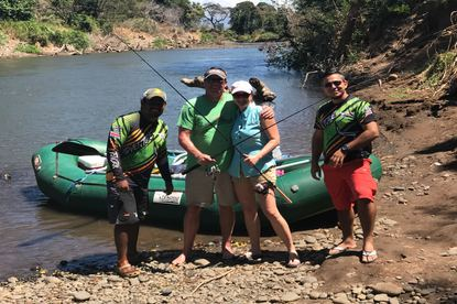 Great times fishing on the Tenorio River with Desafio Adventure Company.