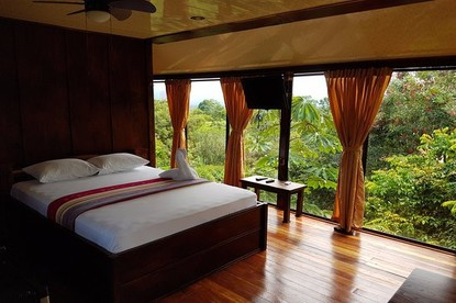 Beautiful rooms at Heliconias Nature Lodge.