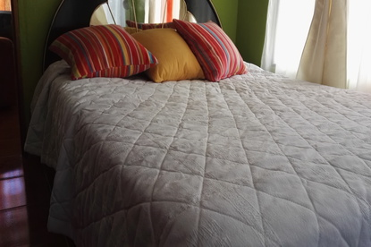 Double bed in Homestay Majim