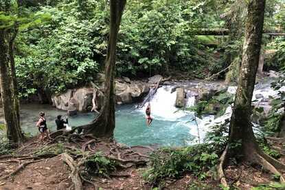 Visit a secret swimming hole on the Desafio La Fortuna City Tour.