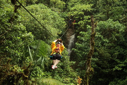 Ziplining in Costa Rica is a must do tour with Desafio.