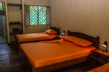 A single room at Laguna Lodge, an eco-tourist hotel on the Caribbean coast of Costa Rica