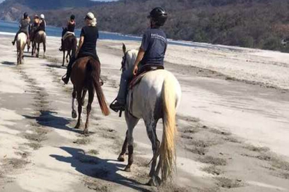 Horseback riding tours on the beach with La Montana with Desafio.