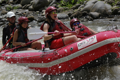 Extreme rafting on the Sarapiqui River Class 3 and 4 with Desafio Adventure Company.