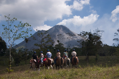The best private horseback ride at the base of the Arenal Volcano