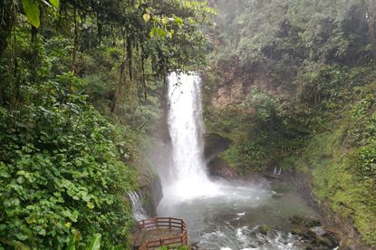 The beautiful La Paz waterfall