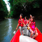 Family fun on a safari float with Desafio in Costa Rica.