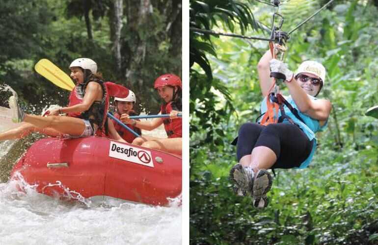 Arenal COMBO Costa Rica Whitewater Rafting Ziplining