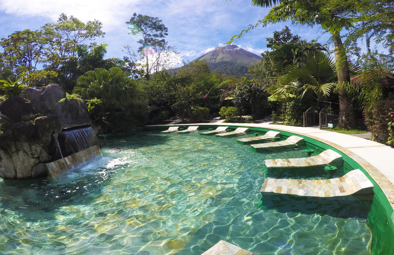 Beautiful Arenal hot springs at Paradise