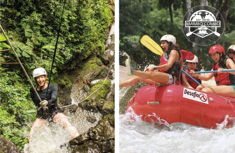 Arenal MAMBO COMBO Canyoning Rafting Private Tour