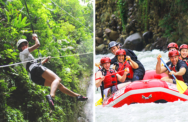 Arenal Mambo Combo Canyoning Rafting Adventure