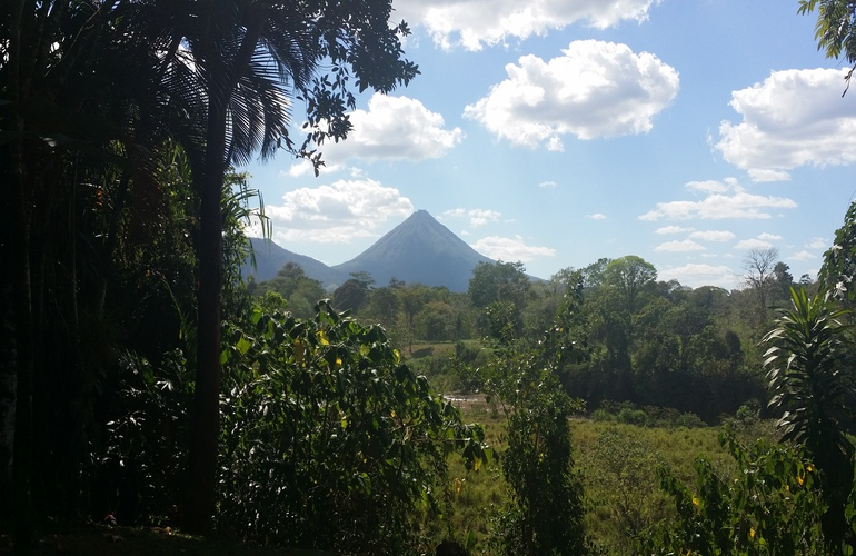 Great views of the Arenal Volcano from Arenal Paraiso.