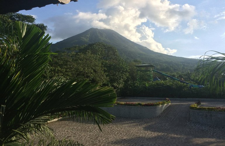 Great views of the Arenal Volcano from Baldi Hot Springs.