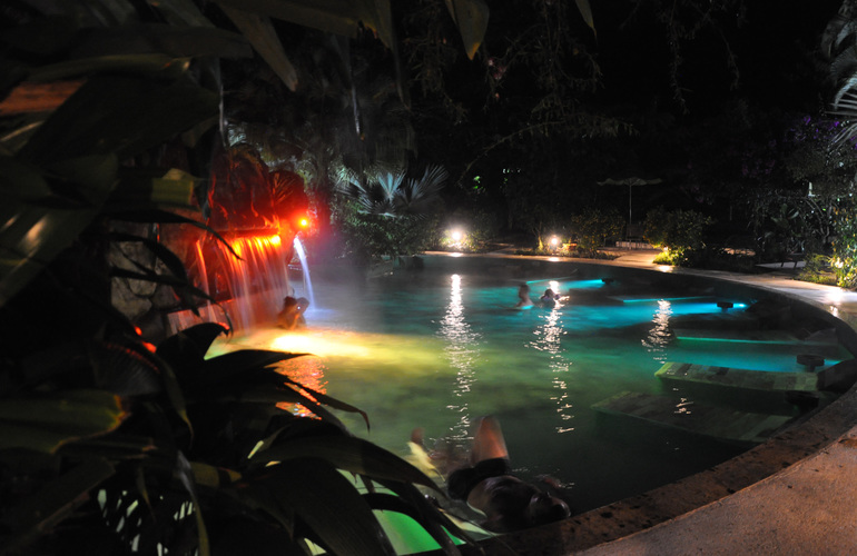 Arenal hot springs at Paradise