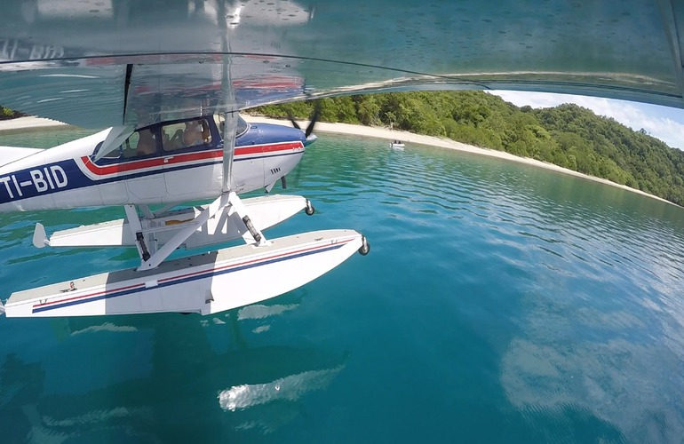 See the Arenal Volcano on a Seaplane and take off and land on Lake Arenal.