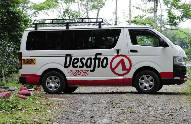 Our Adventutre Connection vans get you there with Desafio tours.