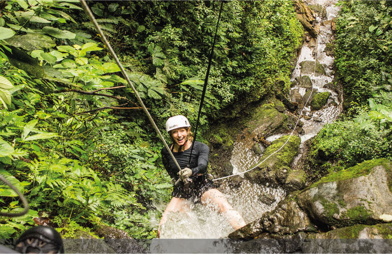 Costa Rica Honeymoon Getaway Canyoning