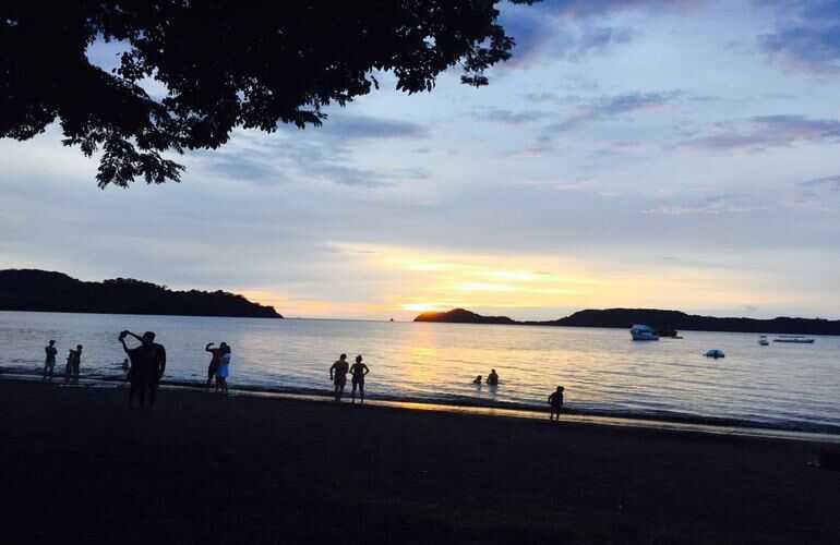 El Mangroove boasts beautiful sunsets in Costa Rica.