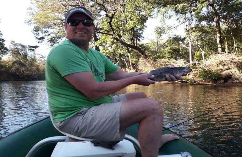 Catch some fun fish on the Tenorio River with Desafio Adventure Company.