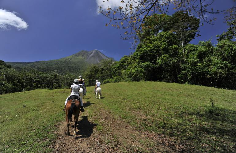Amazing horseback ride along the foothills of the Arenal Volcano.