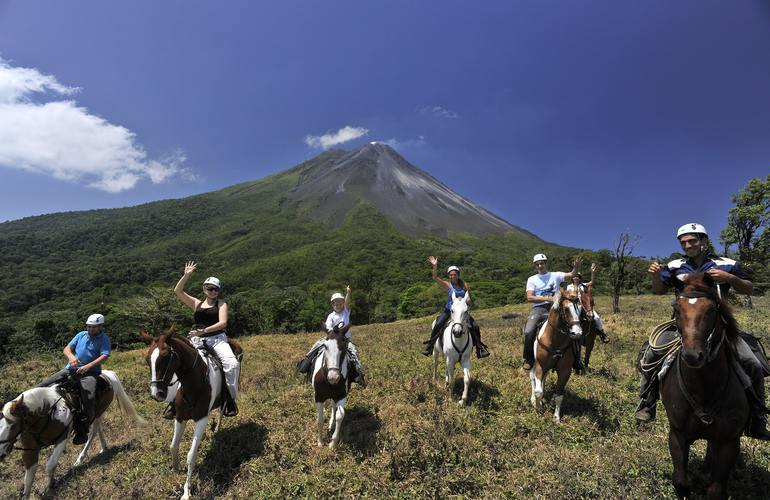 Go on an incredible horseback ride along the foothills of the Arenal Volcano.