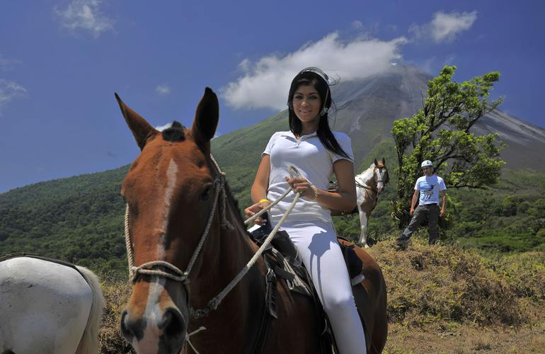 Do a super fun horseback ride along the foothills of the Arenal Volcano.