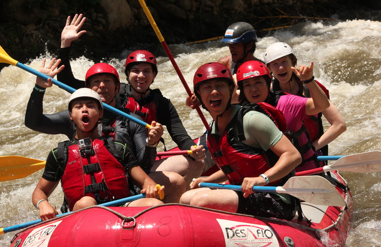 Getting wet and wild Costa Rica rafting.