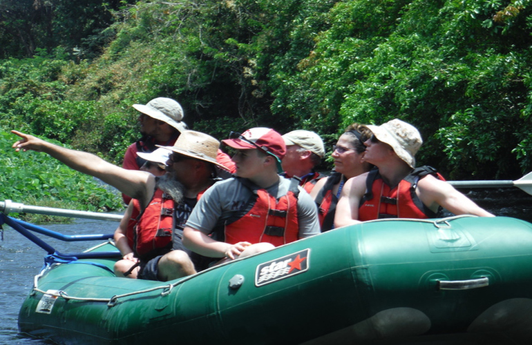 Enjoy a safari float nature tour on the Tenorio River