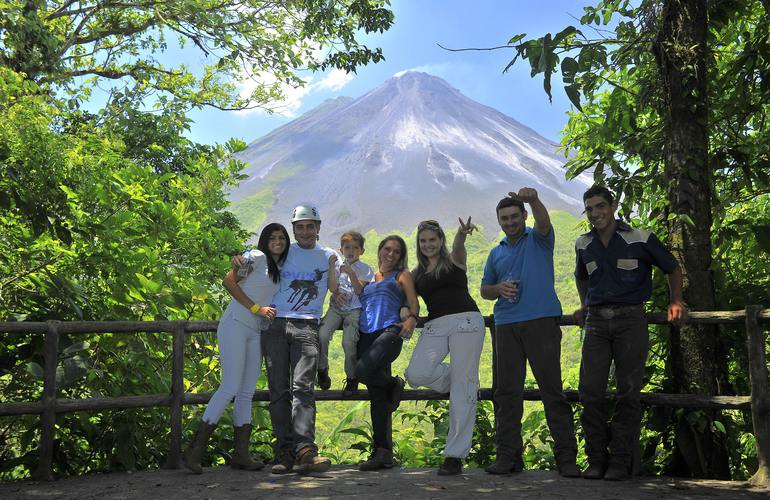 Private horseback ride at the base of the Arenal Volcano view